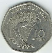 Mauritius, 10 Rupees 2000, VF, WO2746